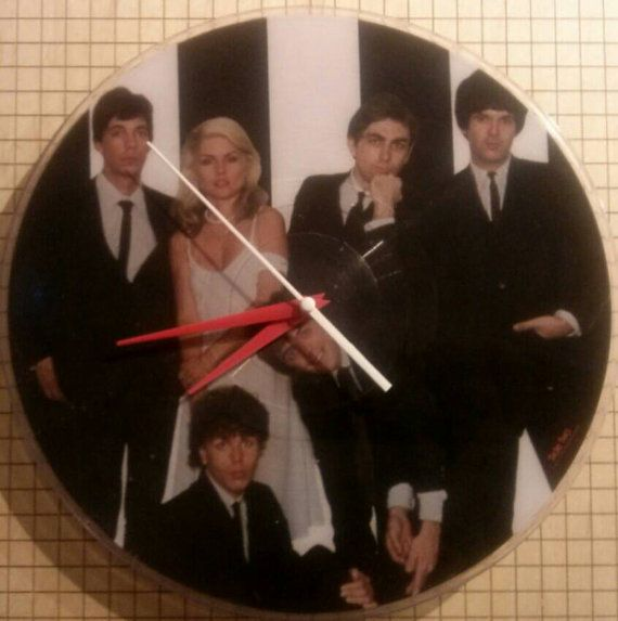 Check out this item in my Etsy shop https://www.etsy.com/listing/248259191/vinyl-record-clock-blondie