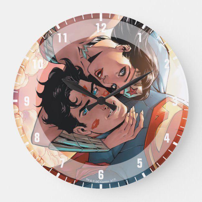 Superman/Wonder Woman Comic Cover Variant Large Clock ,