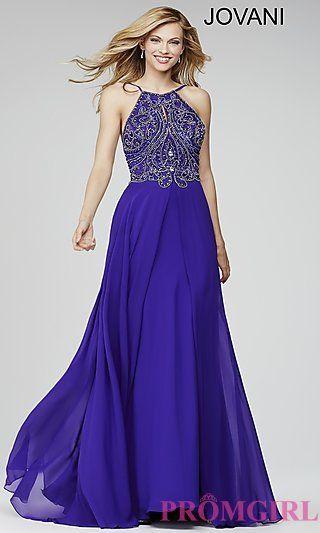 eb8d71bc83 High Neck Beaded Top Jovani Prom Dress | P R O M | Prom dresses ...