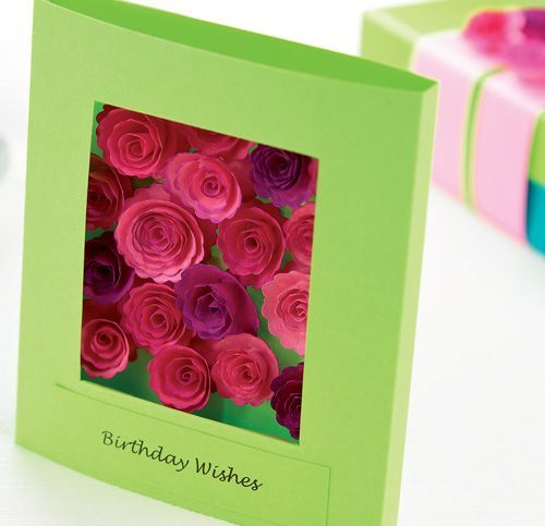 Quilled Paper Roses Card