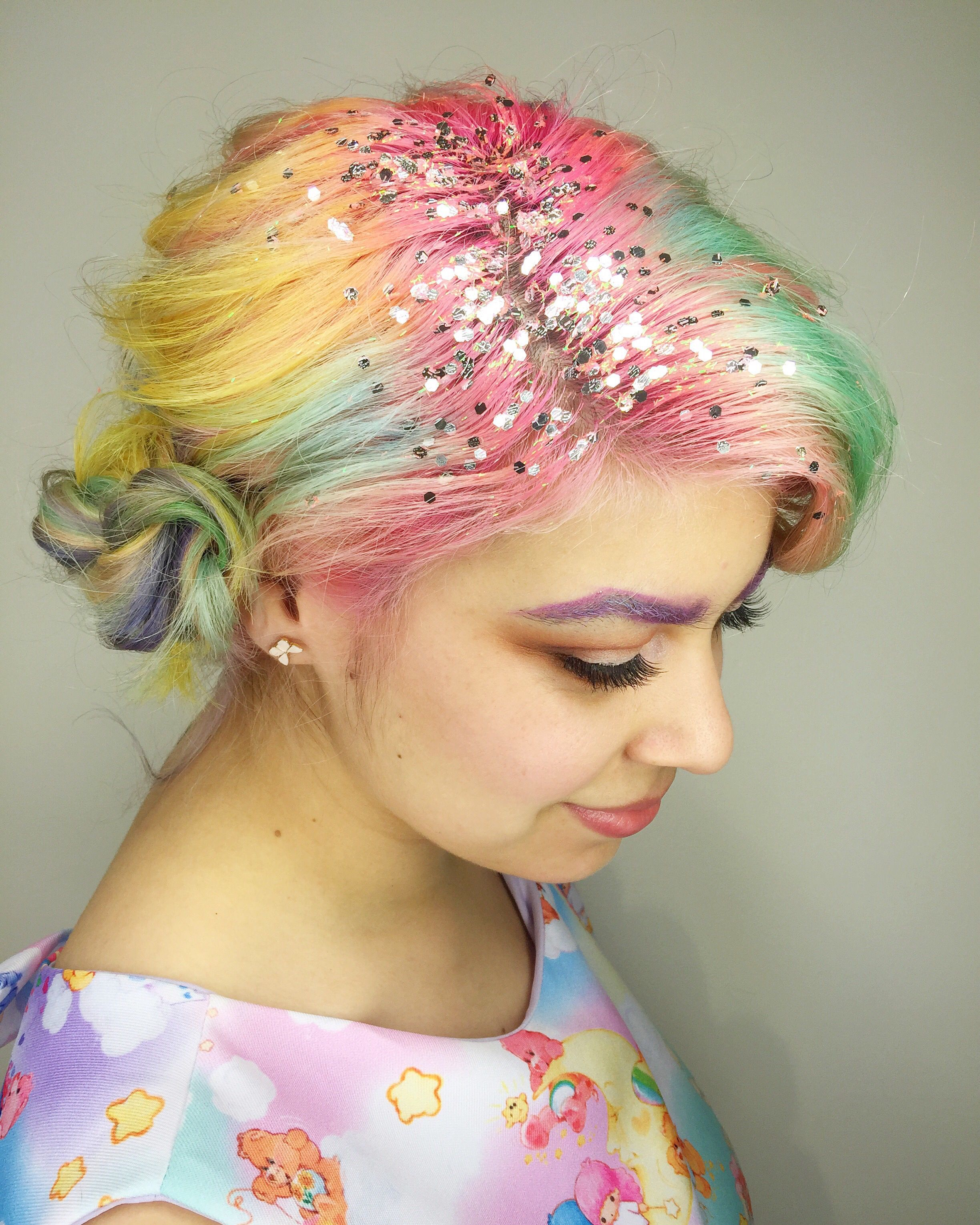 Macaron Hair Is The Sweetest Way To Get In On The Rainbow Trend - Hair colour just for roots