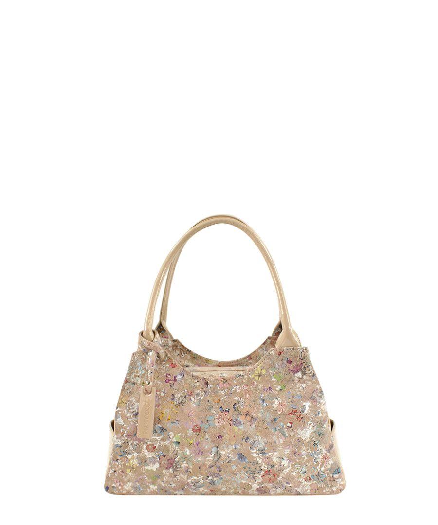 Beige leather print shoulder bag Sale - BOSCCOLO  bcb757378da83