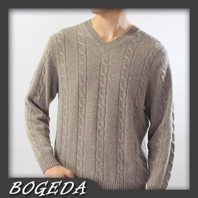Cashmere sweater Men's Pullover Thick V neck Computer style Brown ...