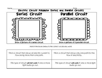 Electric Circuit Foldable: Open, Closed, Series, and Parallel ...