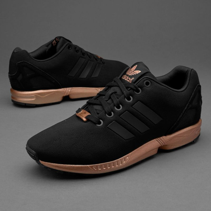 WOMENS ADIDAS ZX FLUX CORE BLACK COPPER ROSE GOLD BRONZE