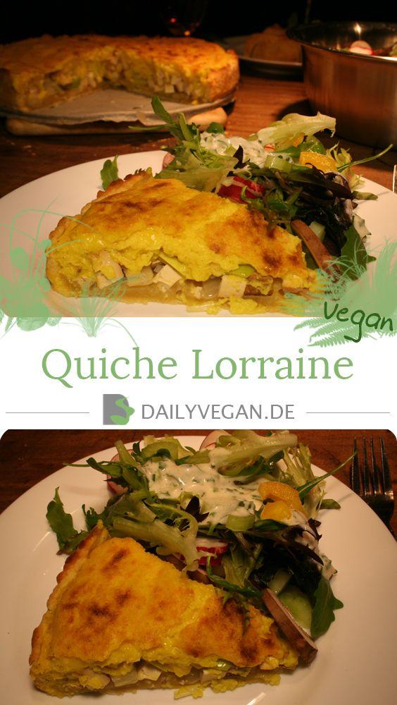 Quiche Lorraine ist eine Spezialität aus der französischen Küche, ich habe sie in diesem Rezept veganisiert.