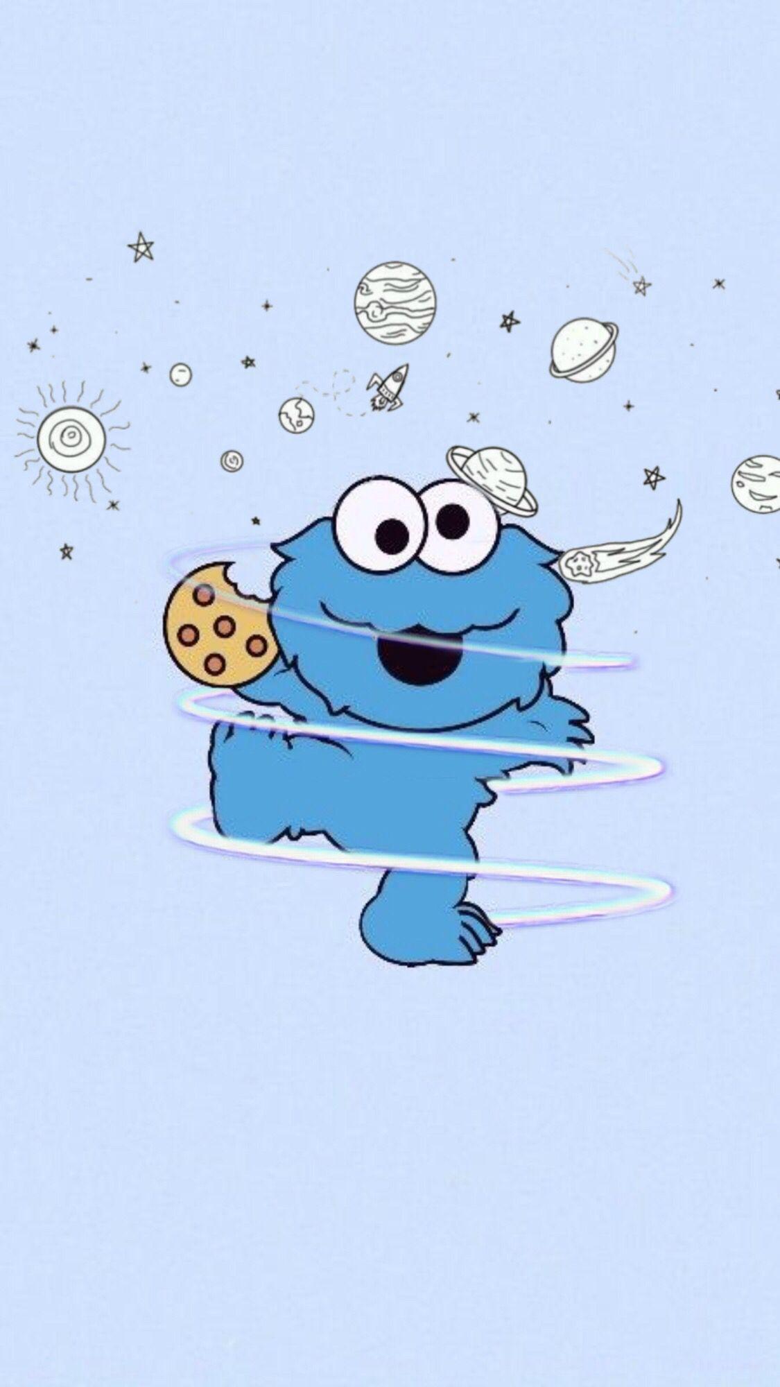 Cookie Monster Wallpaper Iphone Cute Elmo Wallpaper Cartoon Wallpaper Iphone