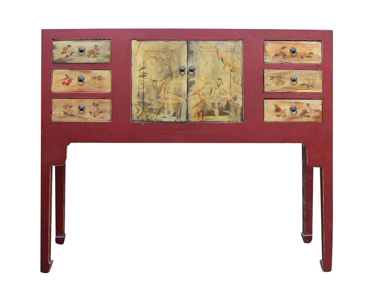 Red Console Table chinese oriental red console table | red console table, oriental