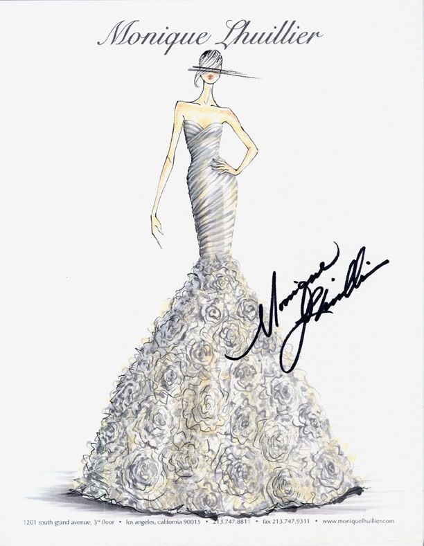 Monique Lhuillier Bridal Sketch| Be inspirational  ❥|Mz. Manerz: Being well dressed is a beautiful form of confidence, happiness  politeness