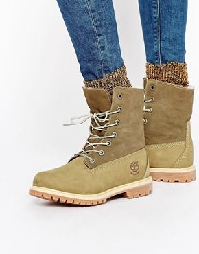 4420e2580c Timberland Authentics Teddy Fleece Lace Up Flat Boots | !!Painless ...