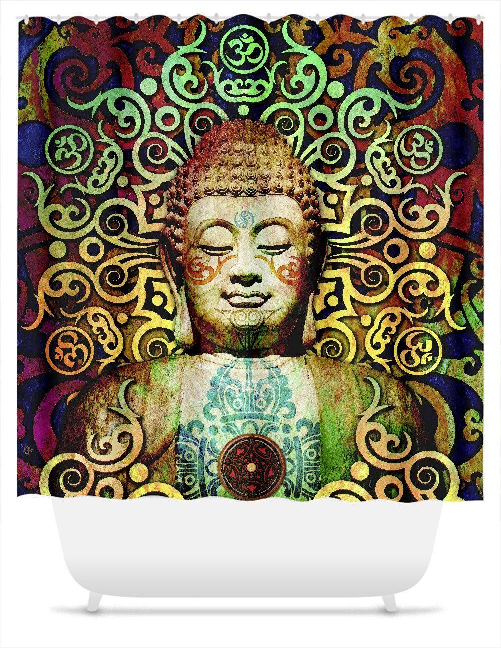 Tribal Buddha Shower Curtain
