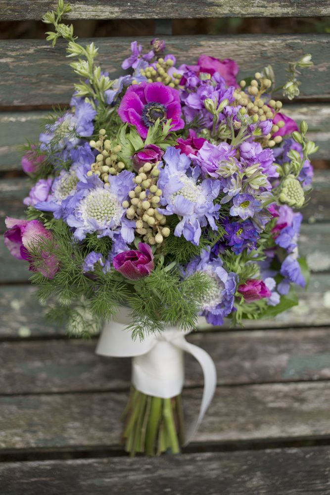 A Colorful Pink and Purple Bouquet by Indigo Path Flowers