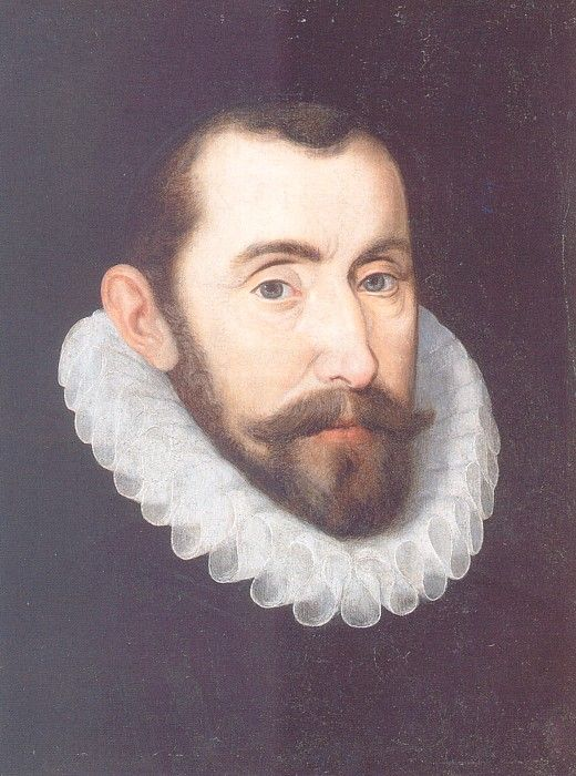 A detail of a portrait of Sir Francis Walsingham, circa 1590, by an artist of the Anglo-Netherlandish School.