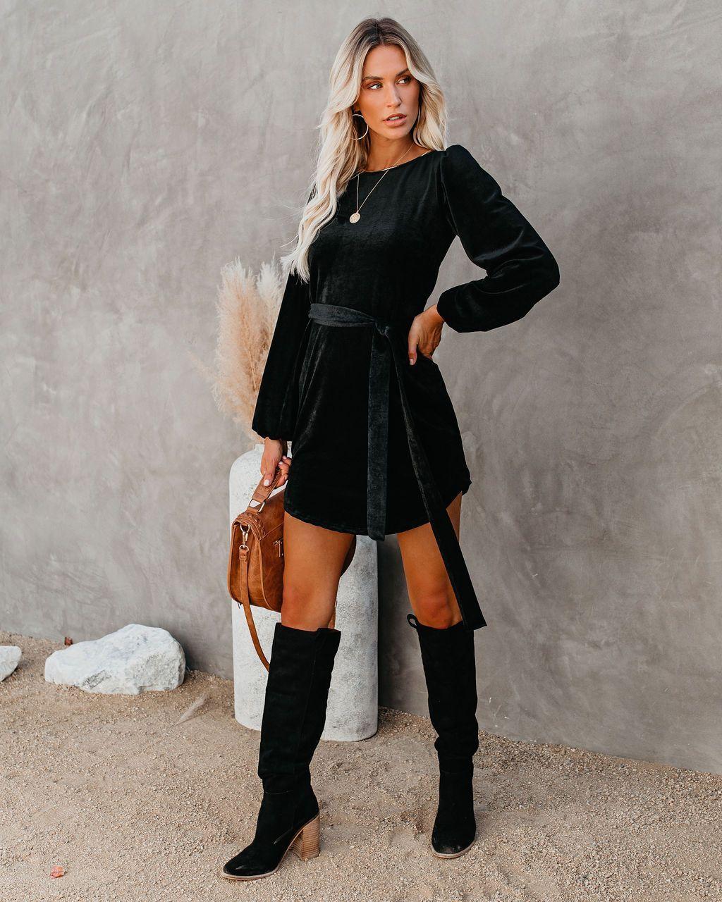 Companions Long Sleeve Corduroy Dress Black Large In 2021 Corduroy Dress Nfr Fashion Vici Dress [ 1280 x 1024 Pixel ]
