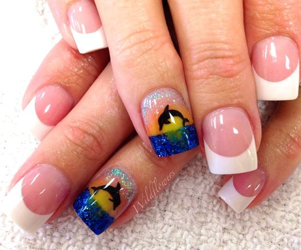 Dolphin by LaurenBri82 - Nail Art Gallery nailartgallery.nailsmag.com by  Nails Magazine www - Dolphin By LaurenBri82 - Nail Art Gallery Nailartgallery.nailsmag