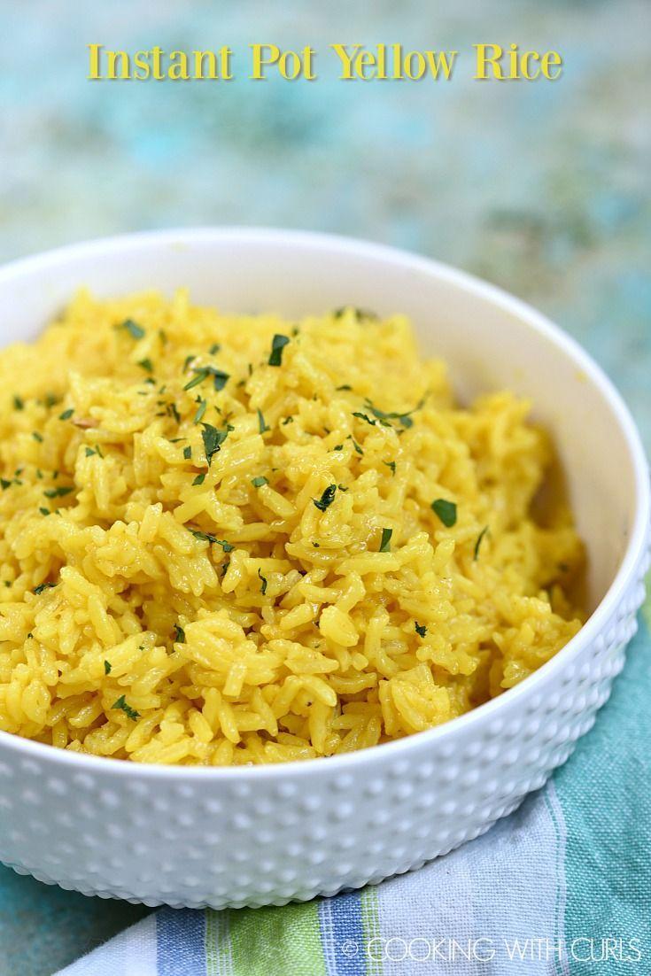 Instant Pot Yellow Rice #seasonedricerecipes