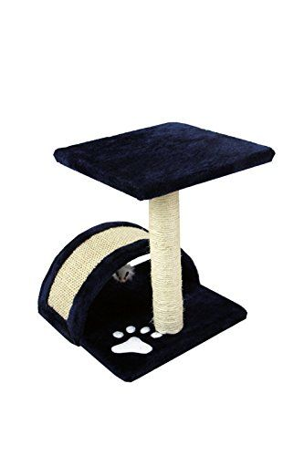 15 Cat Furniture Small Sisal Scratching Post Furniture Playhouse Pet Bed Kitten Toy Cat Tower Condo For Kittens Navy Blue Kitten Toys Small Cat Tree Pet Bed