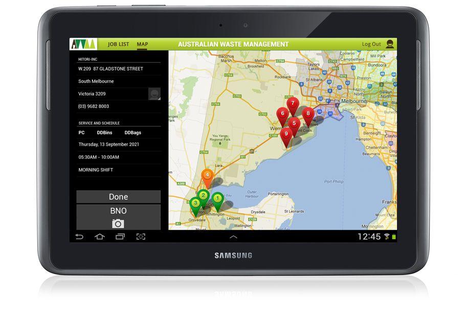 Australian Waste Management web application & app for