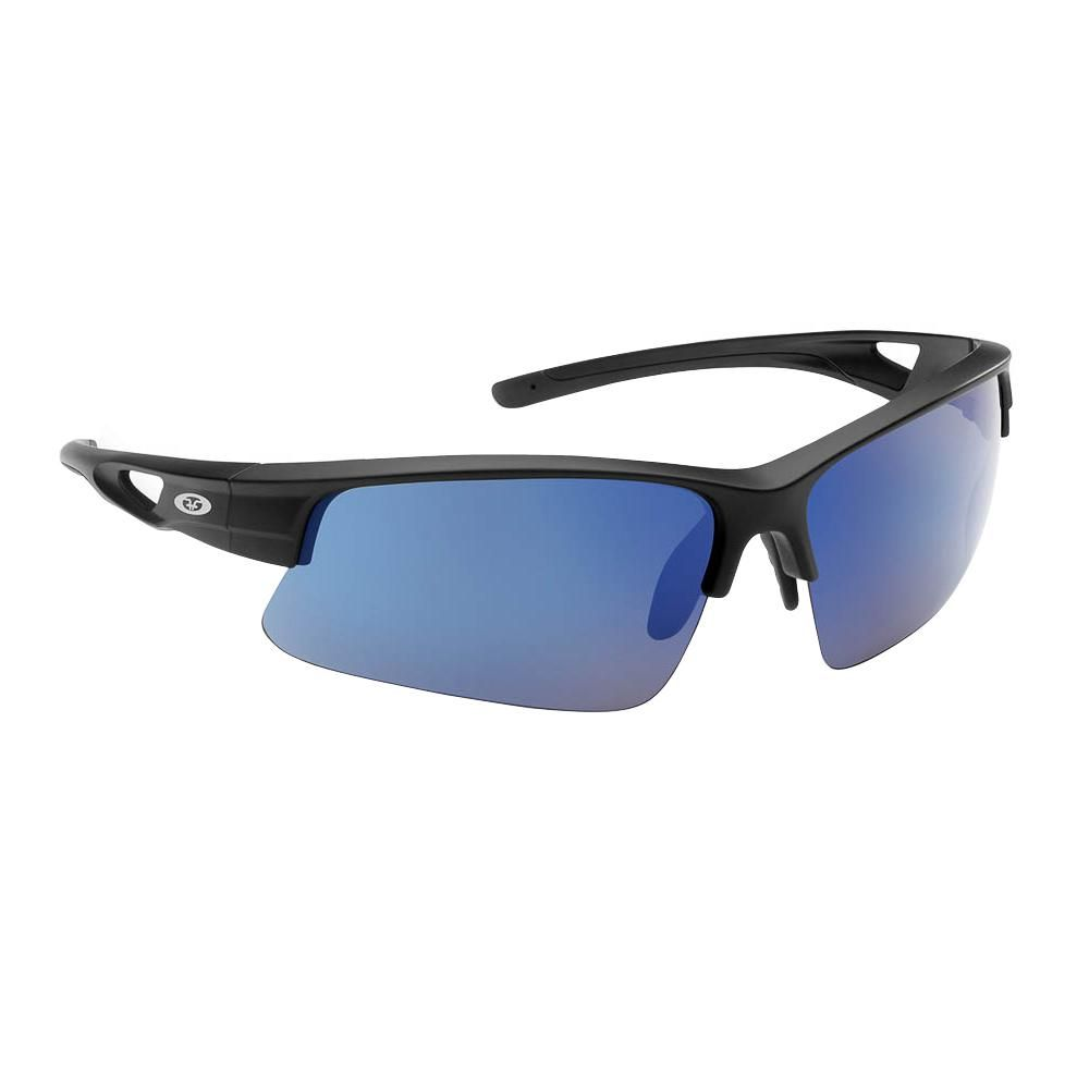 68178e9ff0 Flying Fisherman Moray Polarized Sunglasses Matte Black Frame with Smoke  Blue Mirror Lens