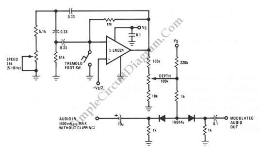 Simple Tremolo circuit diagram | e-schema | Pinterest | Circuit ...
