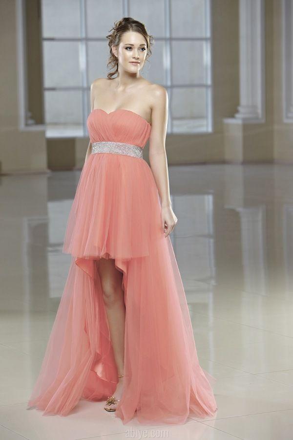 96fefb74efa7d Straplez Uzun Tüllü Abiye | abiye | Strapless dress formal, Formal ...