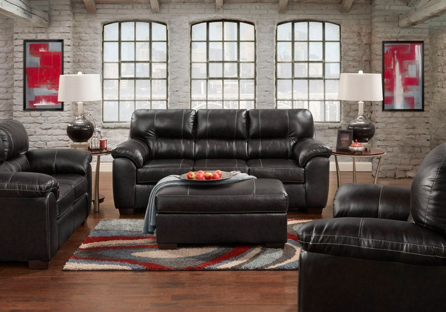 Austin Black Sofa Amp Loveseat Living Room Sets Sofa