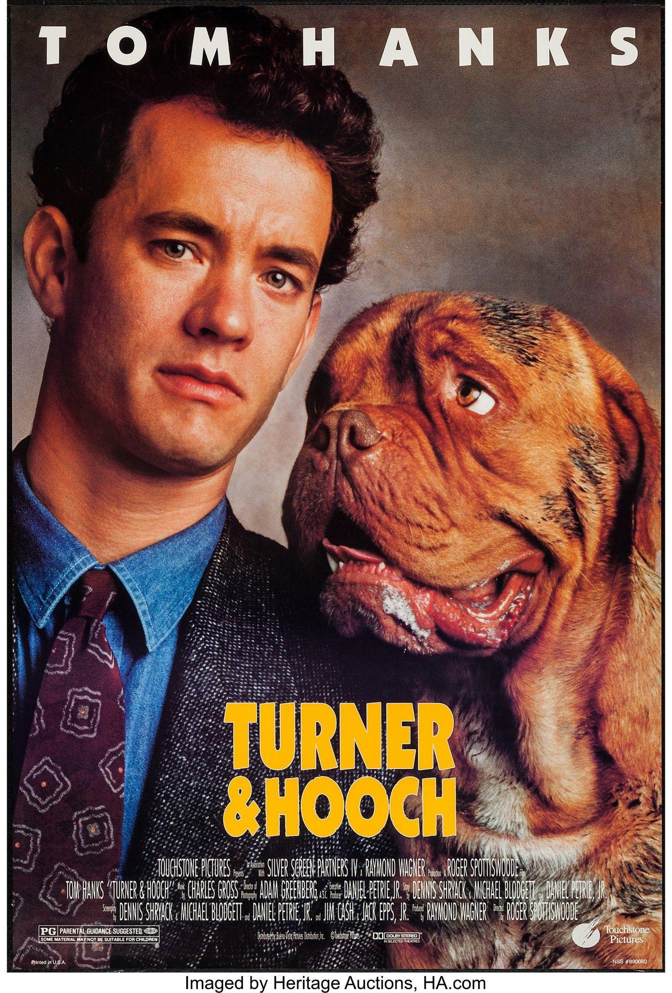 Turner Hooch 1989 Turner And Hooch Dog Movies Tom Hanks Movies