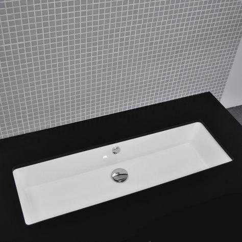 Lacava 5051un Aquagrande Under Counter Porcelain Sink With Overflow