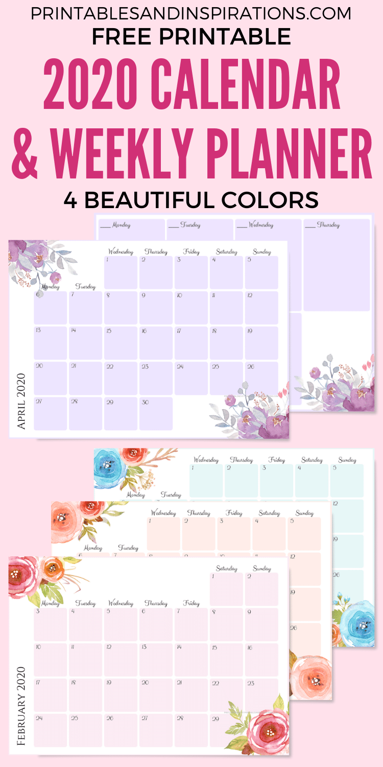 Free Printable 2021 Monthly Calendar Weekly Planner Printables And Inspirations Free Printable Monthly Planner Planner Printables Free Weekly Planner Free