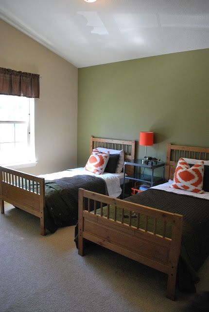 Orange, Brown and green bedroom/ Military Theme | Home Pics ...
