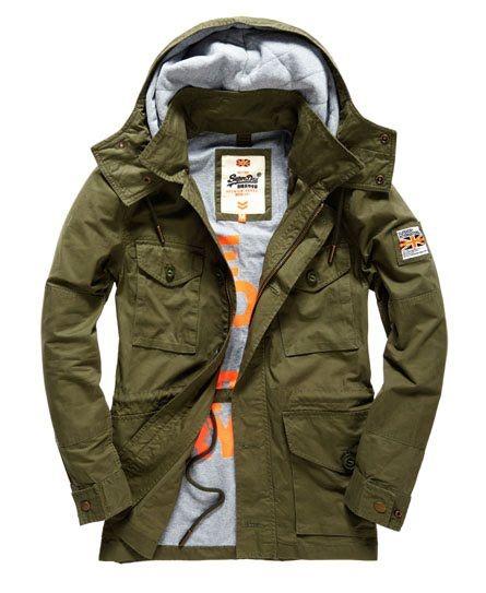 outlet store 41af6 6348d Superdry Rookie Service Parka Jacke Grün | Men's Fashion ...