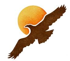 Flying Eagle Silhouette Stencil - Large | Exlibris | Eagle