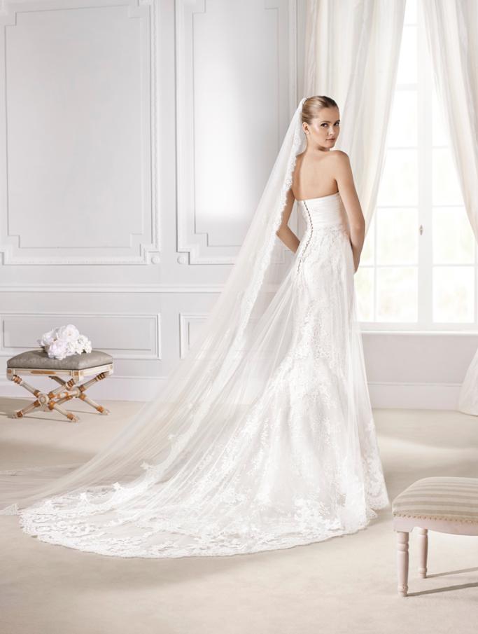 """espalda del #vestido de #novia de la colección """"la sposa 2015"""
