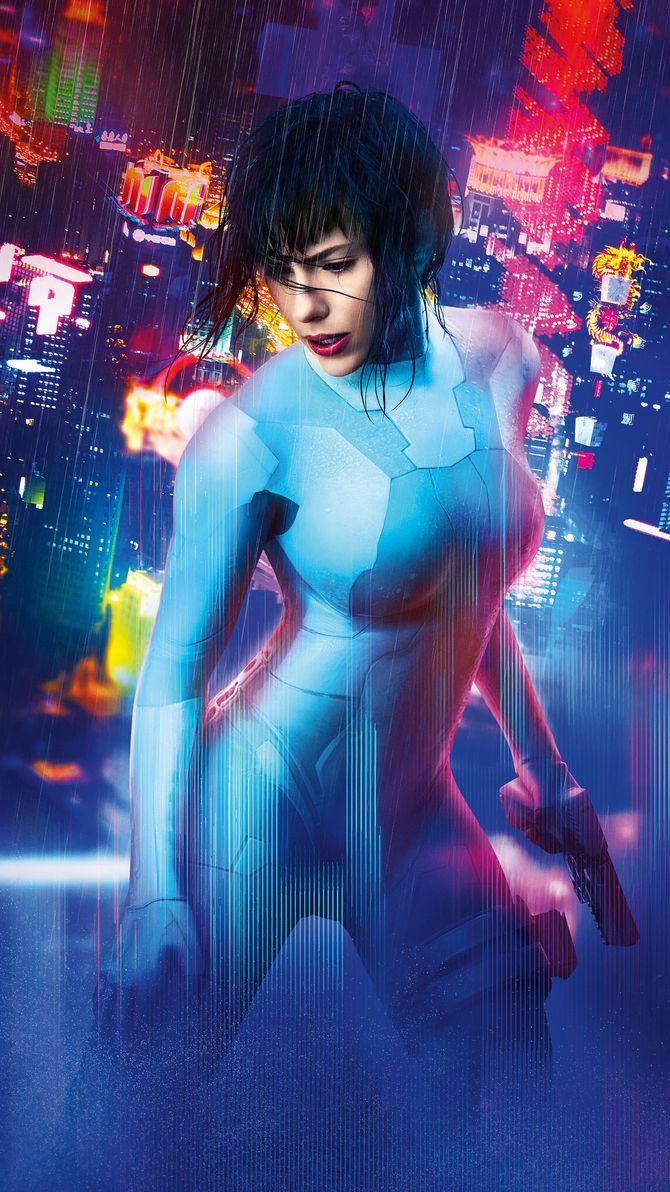Ghost In The Shell 2017 Phone Wallpaper Moviemania Ghost In The Shell Scarlett Johansson Ghost Cyberpunk Girl