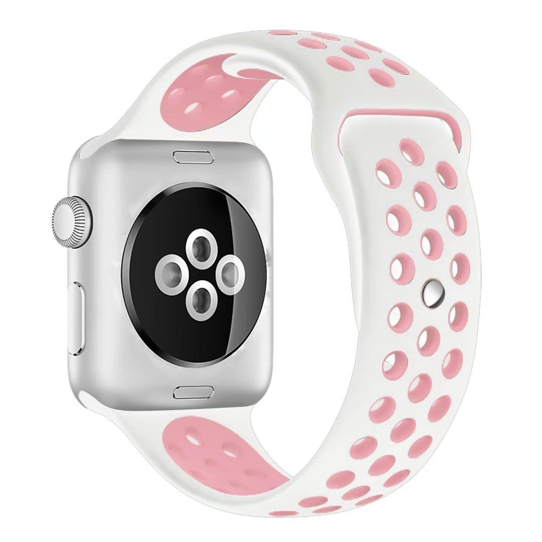 Silicone Sport Band for Apple Watch Series 1, 2, 3, 4 Size ...