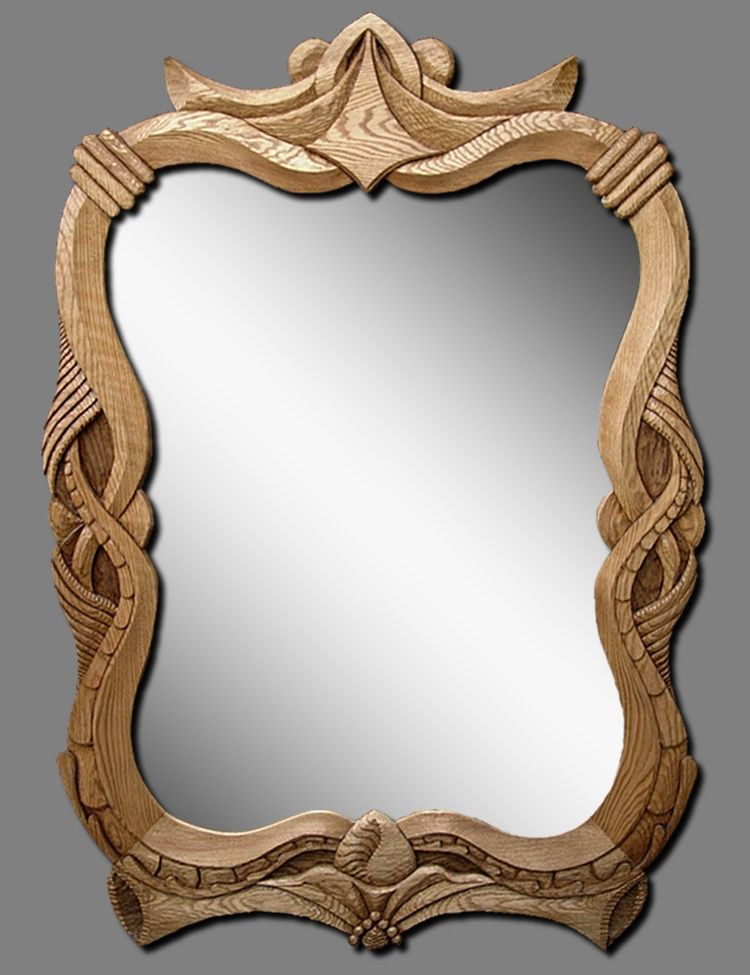 wood by mike huhta wood carved mirrors by michael huhta pinterest sculptures sur bois. Black Bedroom Furniture Sets. Home Design Ideas