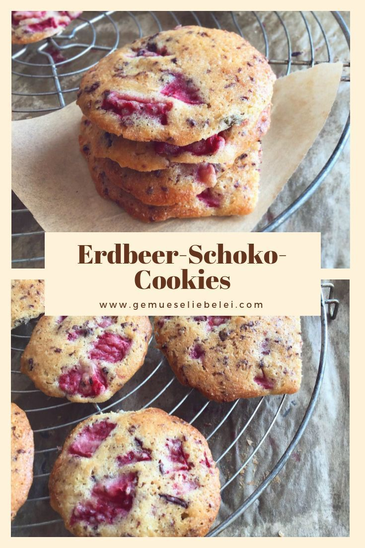 Strawberry Chocolate Cookies - an irresistible liaison - -