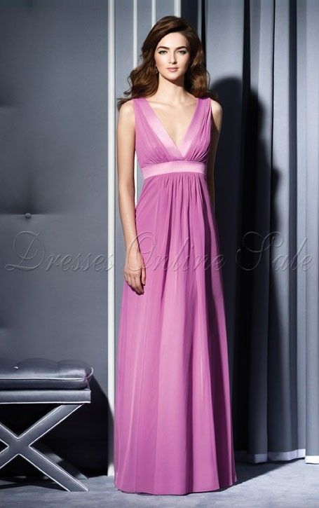 Rosaes A-linie Bodenlanges V-Ausschnitt Kleid