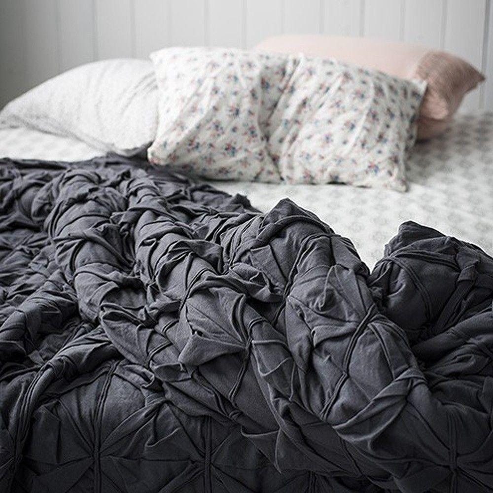 Twister Bedding In Slate Our New And Beautfiul Deep Grey Subtle Manited