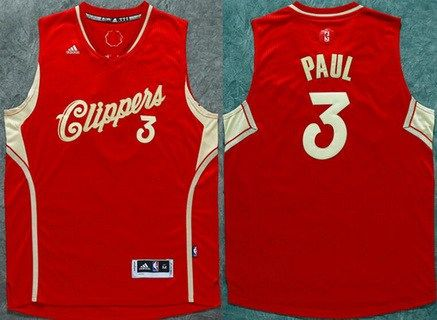 895e5784b Men s Los Angeles Clippers  3 Chris Paul Revolution 30 Swingman 2015  Christmas Day Red Jersey
