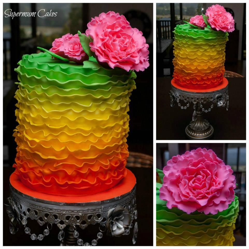 Amazing colour via Supermum Cakes on the Gold Coast.