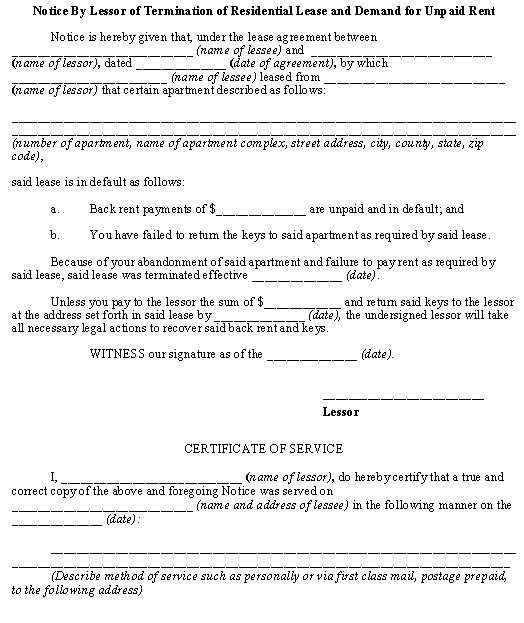 Residential Lease Agreement Download Sample Lettering Rent Lease