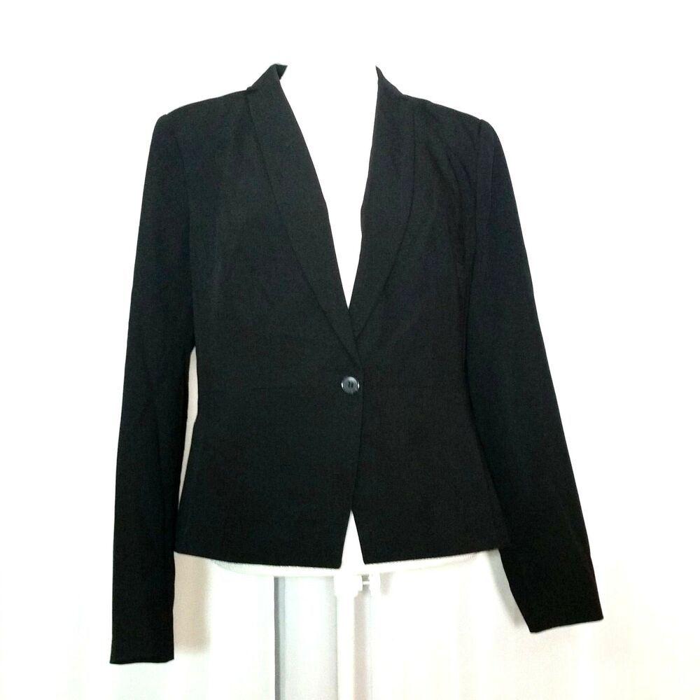 Worthington Womens Black Career Blazer Size 16 Lined One Button Suit Jacket Worthington Onebutton Suit Jackets For Women Career Blazer Denim Jacket Women [ 1000 x 1000 Pixel ]