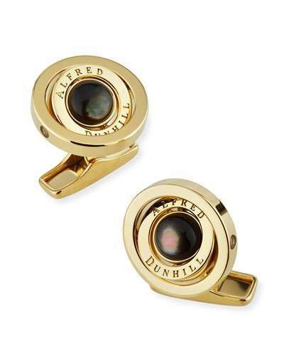 2a9e2c86f1d0 Dunhill Gyro Cufflinks with Black Mother of Pearl in 2019 | Products ...