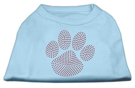 Red Paw Rhinestud Shirts Baby Blue S (10)