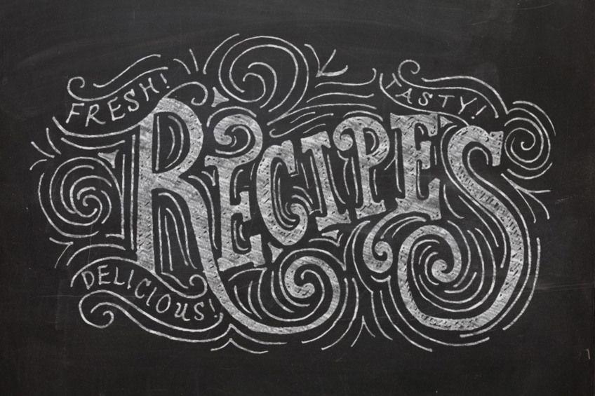 Chalk Lettering // Recipes