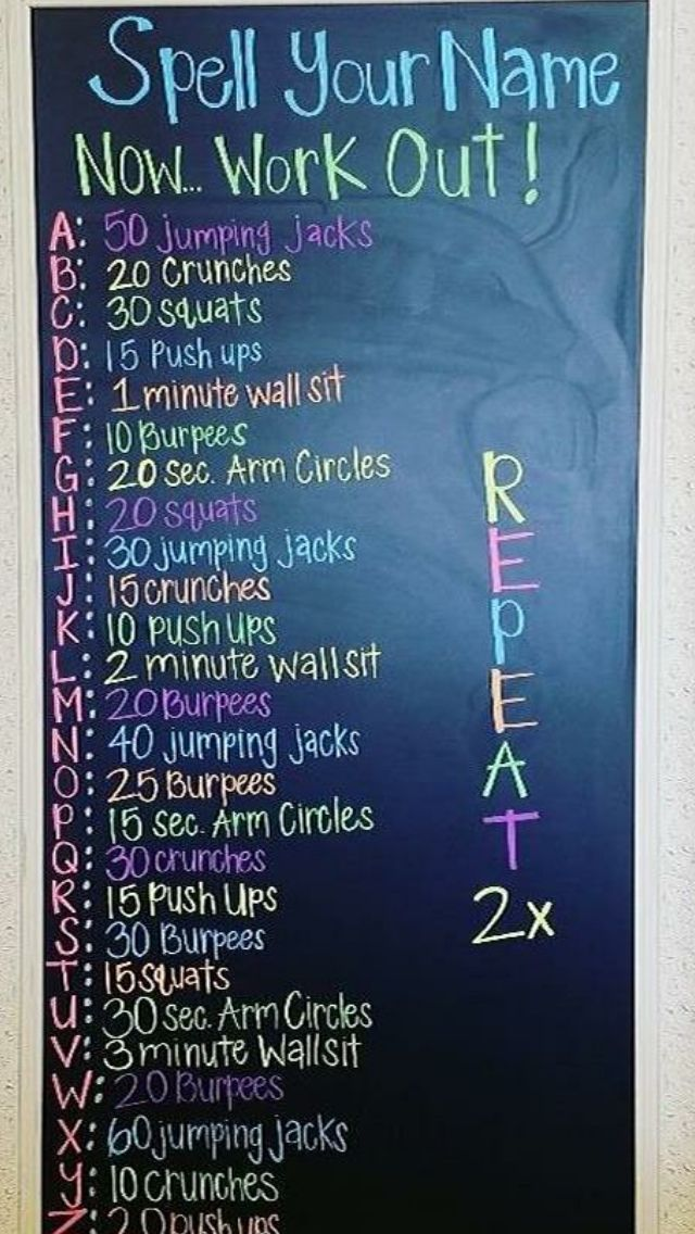 Spell your name and then work out. This looks like fun! 👏💪 #exercise #workout #fitness #exercisename...