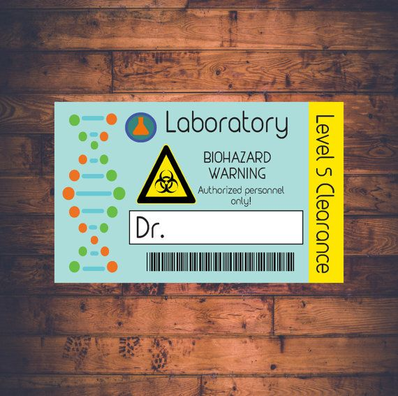 Science Lab Name Badge Printable And Customizable Scientist Lab - Mad scientist name tag template