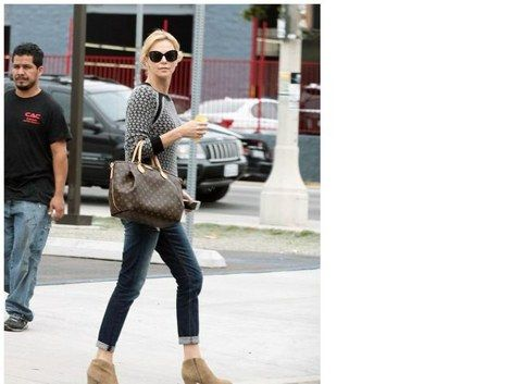357fec103266 Charlize Theron and Louis Vuitton Turenne GM Bag   Coolspotters ...