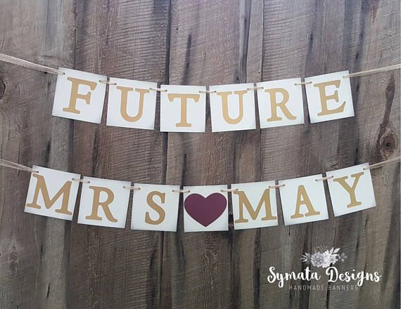 future mrs banner personalized wedding shower sign wedding shower banner burgundy heart gold letters bride to be iaty135